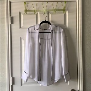 White long sleeve button down